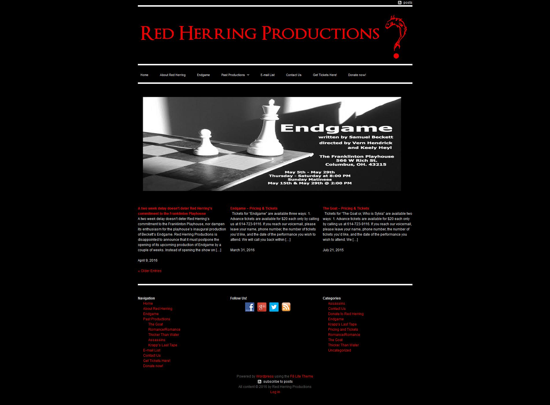 Homepage - Before